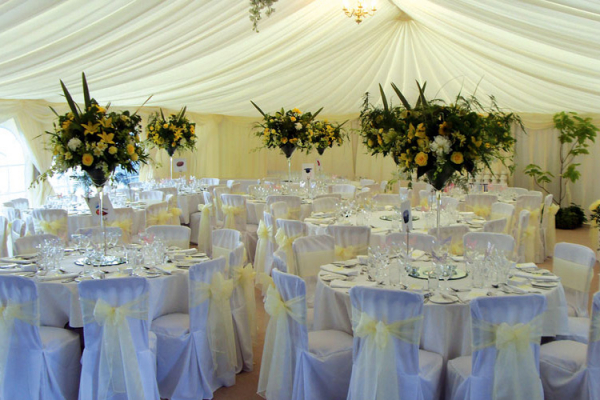 Marquee wedding receptions - Balcombe House