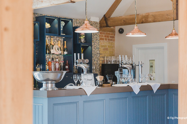 The Bar at Bassmead Manor Barns wedding venue in Cambridgeshire | CHWV