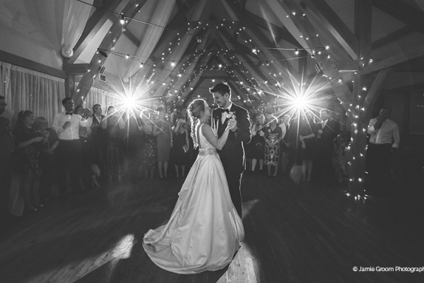 A couples first dance at Bassmead Manor Barns wedding venue in Cambridgeshire | CHWV
