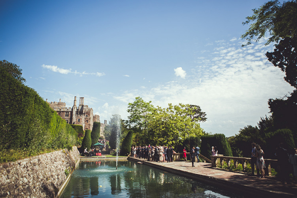 A water feature in the fabulous grounds at Berkeley Castle wedding venue in Gloucestershire | CHWV