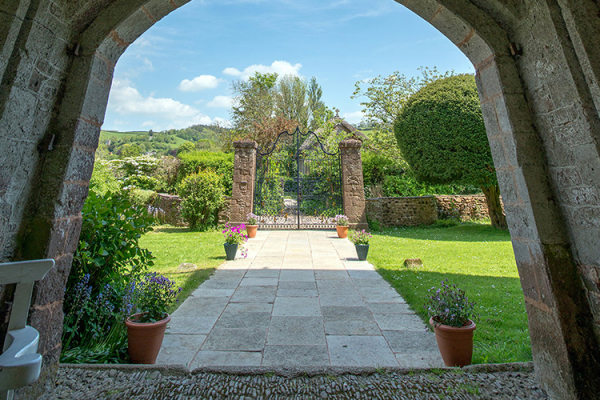 Looking out onto the beautiful gardens at Bickleigh Castle wedding venue in Devon | CHWV