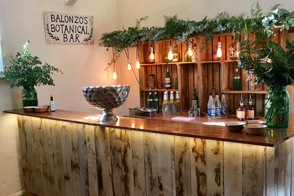 The drinks bar at Bignor Park wedding venue in West Sussex | CHWV