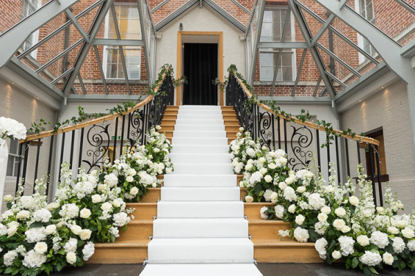 The Grand Staircase At Botleys Mansion Wedding Venue In Surrey