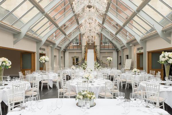 Botleys Mansion Wedding Venue In Surrey Set Up For A Reception