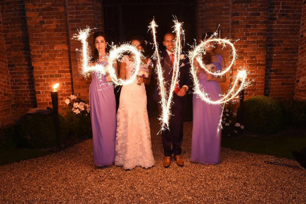 Sparklers in the courtyard at Braxted Park in Essex | CHWV