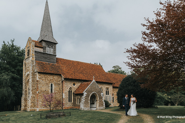 The church nearby at Braxted Park country house wedding venue in Essex | CHWV
