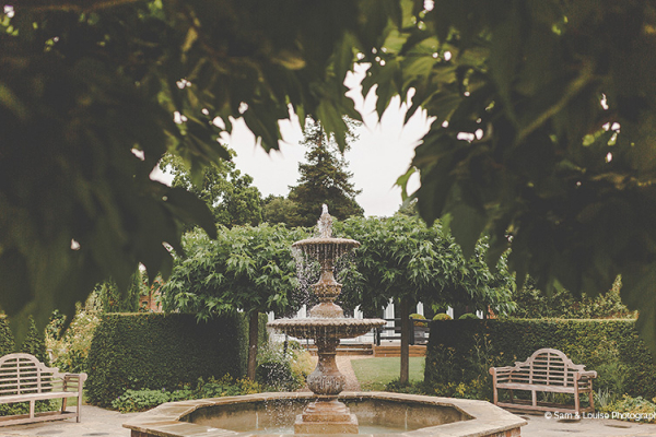 Water feature in the beautiful grounds at Braxted Park country house wedding venue in Essex | CHWV