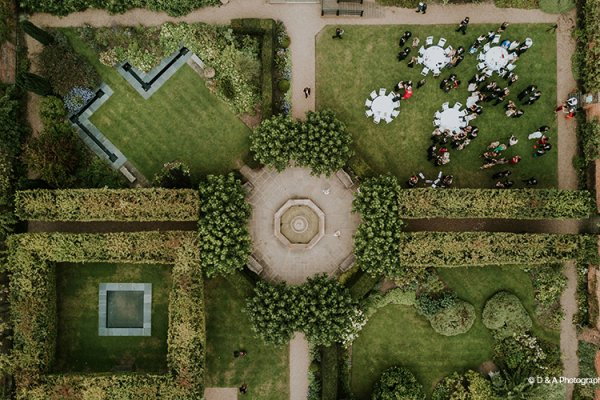 An aerial shot at Braxted Park country house wedding venue in Essex | CHWV