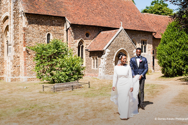 A nearby church at Braxted Park wedding venue in Essex | CHWV