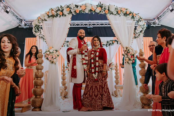 An indian wedding ceremony at Braxted Park wedding venue in Essex | CHWV