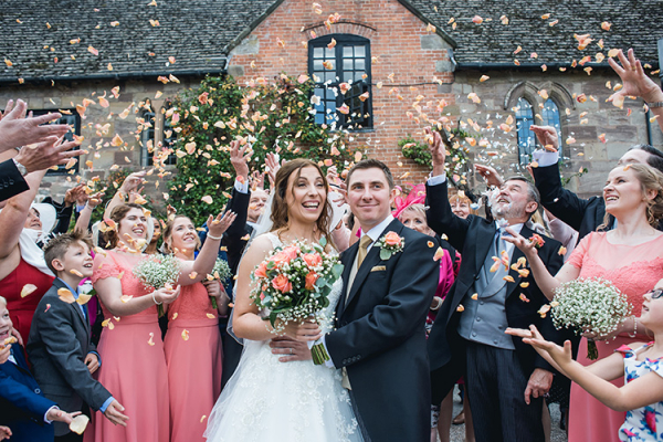 Just married at Brinsop Court country house wedding venue in Herefordshire | CHWV