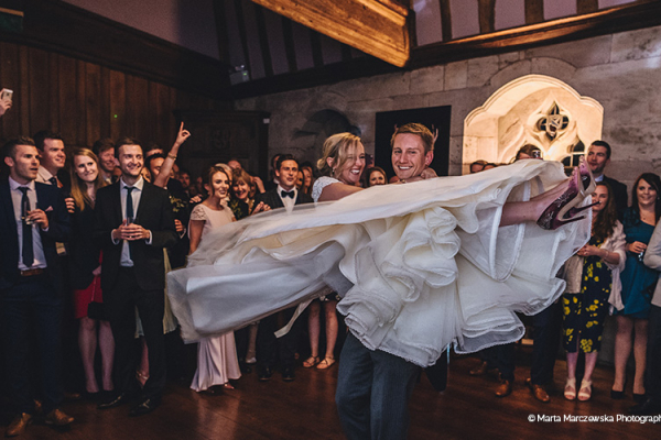 First dance at Brinsop Court country house wedding venue in Herefordshire | CHWV
