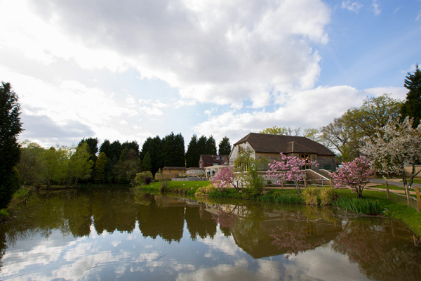The lake at Brookfield Barn wedding venue in West Sussex | CHWV