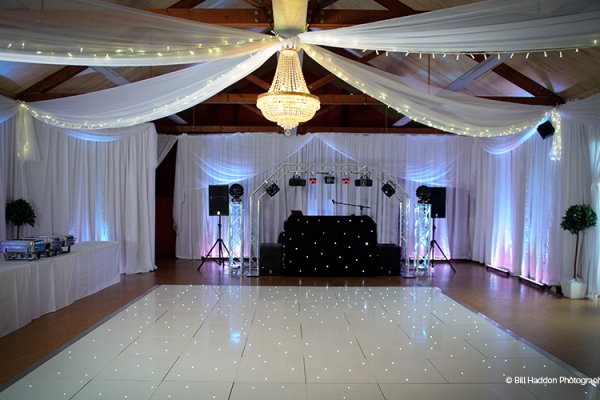 Set up for an evening reception at Brooksby Hall wedding venue in Leicestershire | CHWV