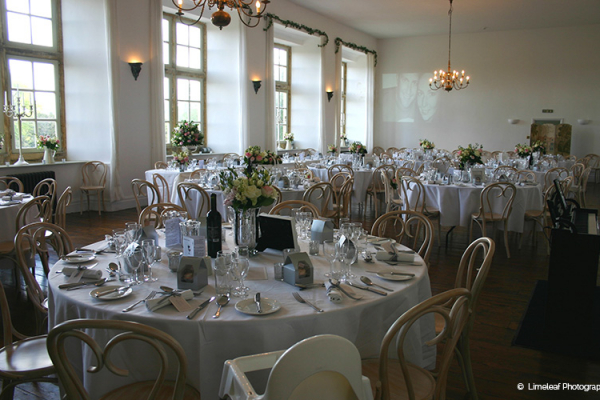 Brympton House set up for a reception