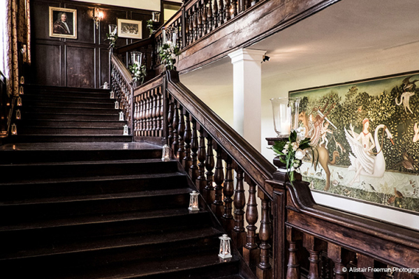 The grand staircase at Brympton House