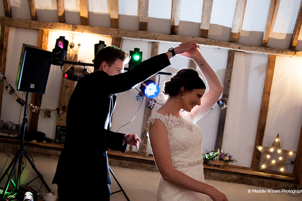 First dance at Clock Barn wedding venue in Hampshire | CHWV
