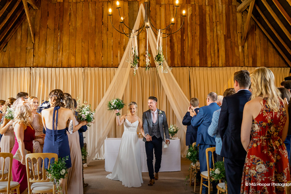 Aisle at Clock Barn | Wedding Venues Hampshire