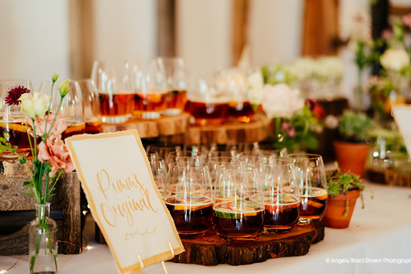 Reception Drinks at Clock Barn | Wedding Venues Hampshire