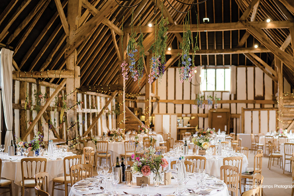 Wedding Breakfast at Clock Barn | Wedding Venues Hampshire