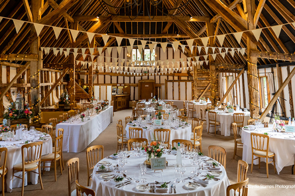 Wedding Reception at Clock Barn | Wedding Venues Hampshire