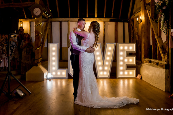 First Dance at Clock Barn | Wedding Venues Hampshire