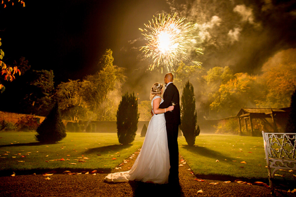 Fireworks at Combermere Abbey wedding venue in Shropshire | CHWV
