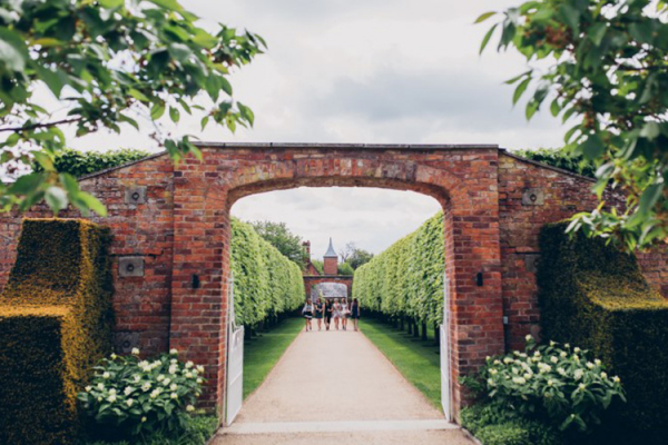 Entrance to the gardens at Combermere Abbey wedding venue in Shropshire | CHWV