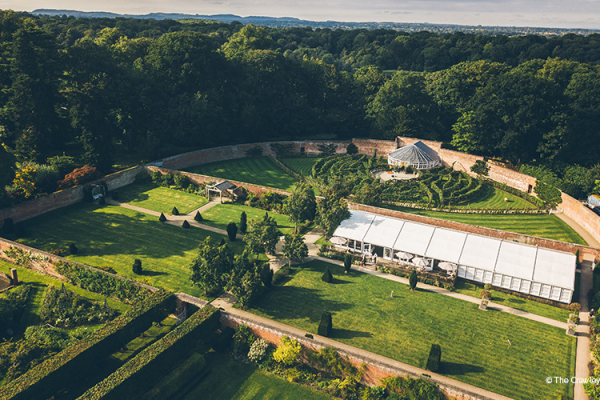 Aerial View of Combermere Abbey | Wedding Venues Cheshire
