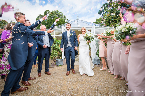 Confetti Shot at Combermere Abbey | Wedding Venues Cheshire