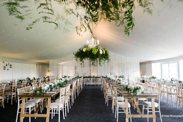 Wedding Breakfast in the Pavilion at Combermere Abbey | Wedding Venues Cheshire