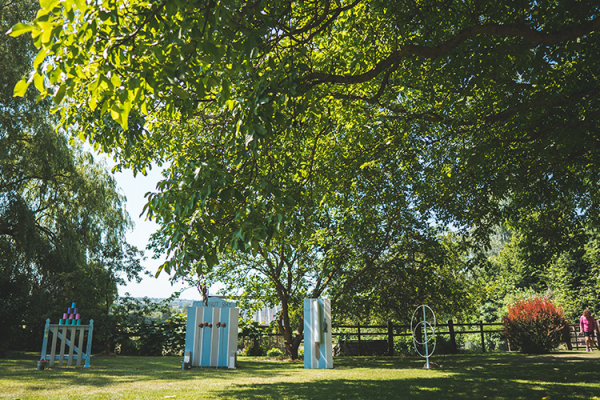 Garden games set out at Crockwell Farm wedding venue in Northamptonshire | CHWV