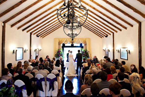 A romantic wedding ceremony at Crondon Park Barn wedding venue in Essex | CHWV
