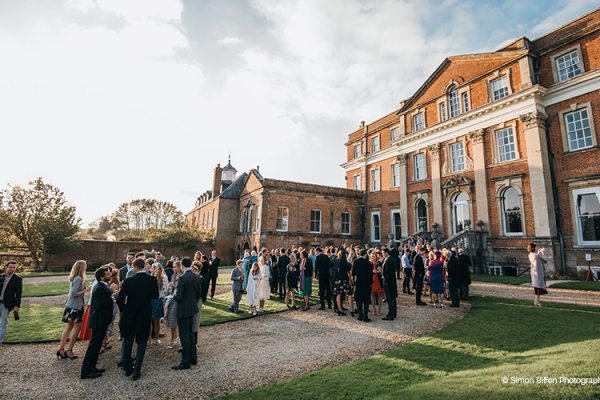 A drinks reception in the grounds at Crowcombe Court wedding venue in Somerset | CHWV