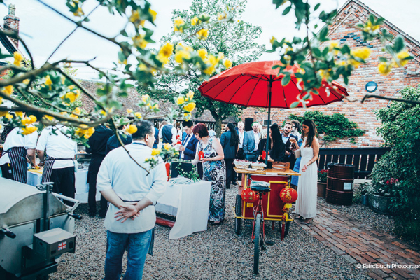 Street Food at Curradine Barns wedding venue in Worcestershire | CHWV