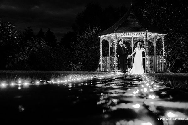The Garden Gazebo in the evening at Curradine Barns wedding venue in Worcestershire | CHWV