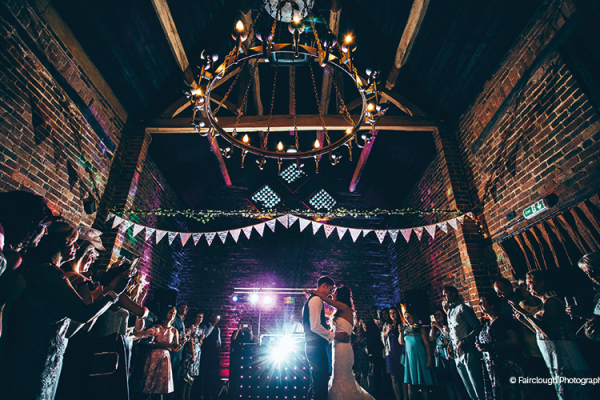 First dance at Curradine Barns wedding venue in Worcestershire | CHWV