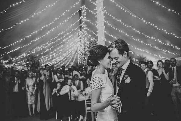 Romantic first dance at Dorfold Hall country house wedding venue in Cheshire | CHWV