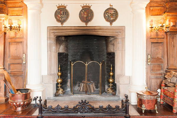 A period fireplace at Dorfold Hall wedding venue in Cheshire | CHWV