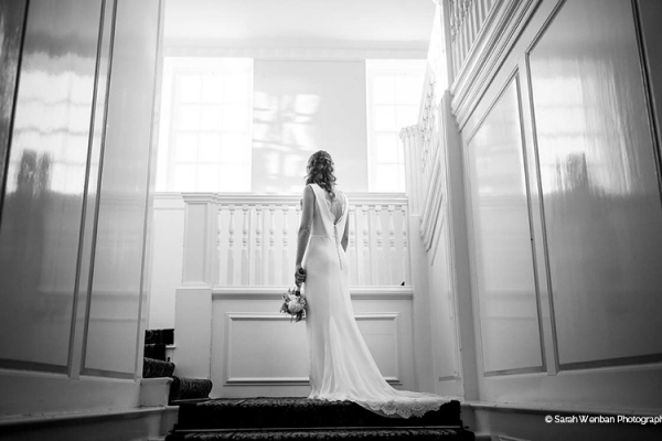 A bride all ready at Eartham House West Sussex wedding venue | CHWV