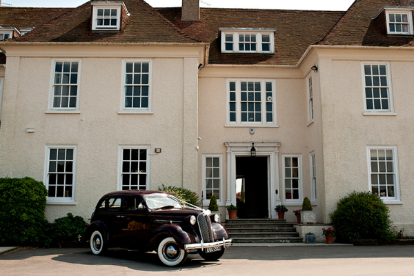 Wedding transport outside Eartham House West Sussex wedding venue | CHWV