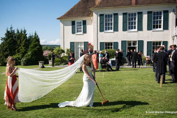 Fun garden games at Eartham House West Sussex wedding venue | CHWV