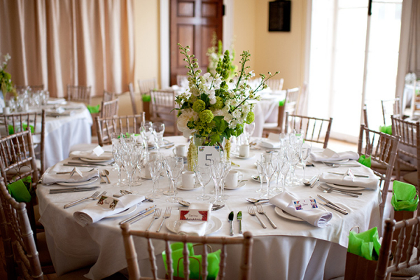 Set up for a wedding breakfast at Eartham House West Sussex wedding venue | CHWV