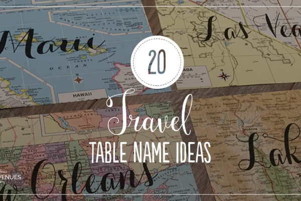 Ideas For Wedding Table Names: Disney Wedding Table Name Ideas