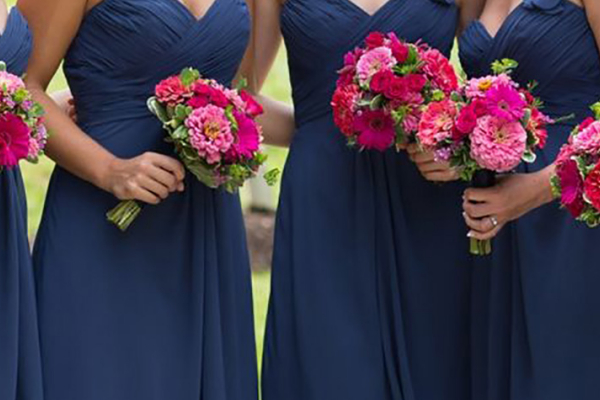 Blue wedding flowers wedding ideas chwv wedding ideas by colour navy blue bridesmaid dresses mightylinksfo