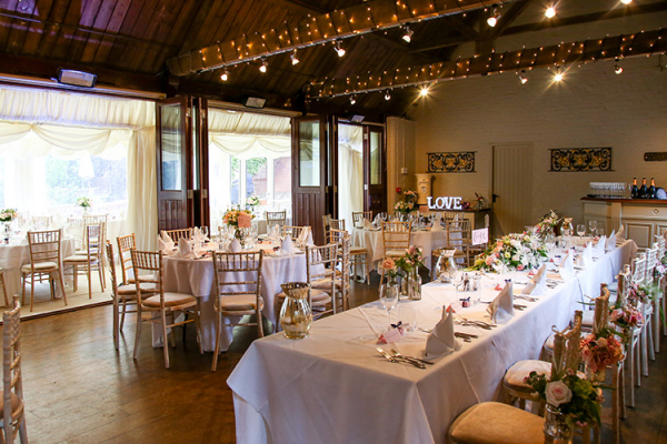 Set up for a wedding reception at The Five Arrows wedding venue in Buckinghamshire | CHWV