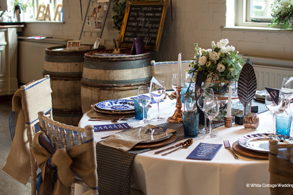 Table decorations at a wedding reception at The Five Arrows wedding venue in Buckinghamshire | CHWV