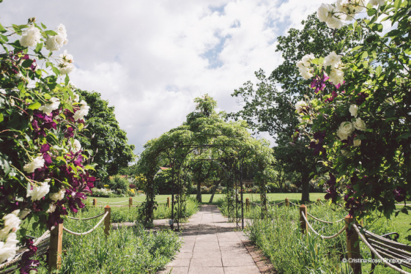 The beautiful grounds and Garden Pavilion at Gaynes Park barn wedding venue in Essex | CHWV