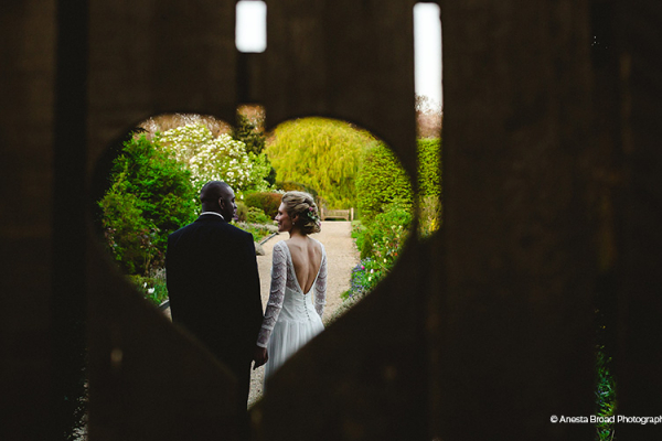 The romantic heart gate at Gaynes Park barn wedding venue in Essex | CHWV
