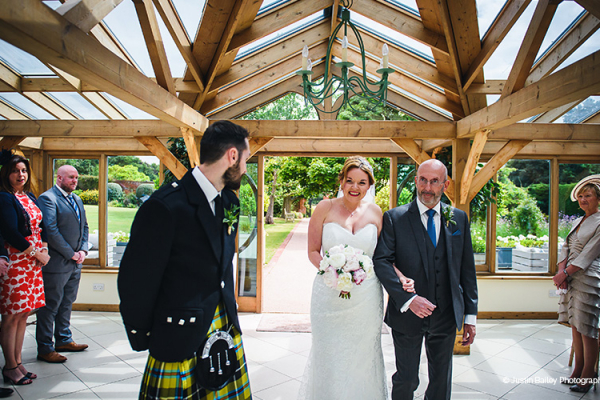 About to tie the knot in The Orangery at Gaynes Park barn wedding venue in Essex | CHWV